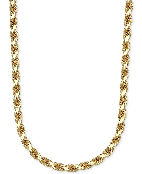14k real gold rope chain 24 inch