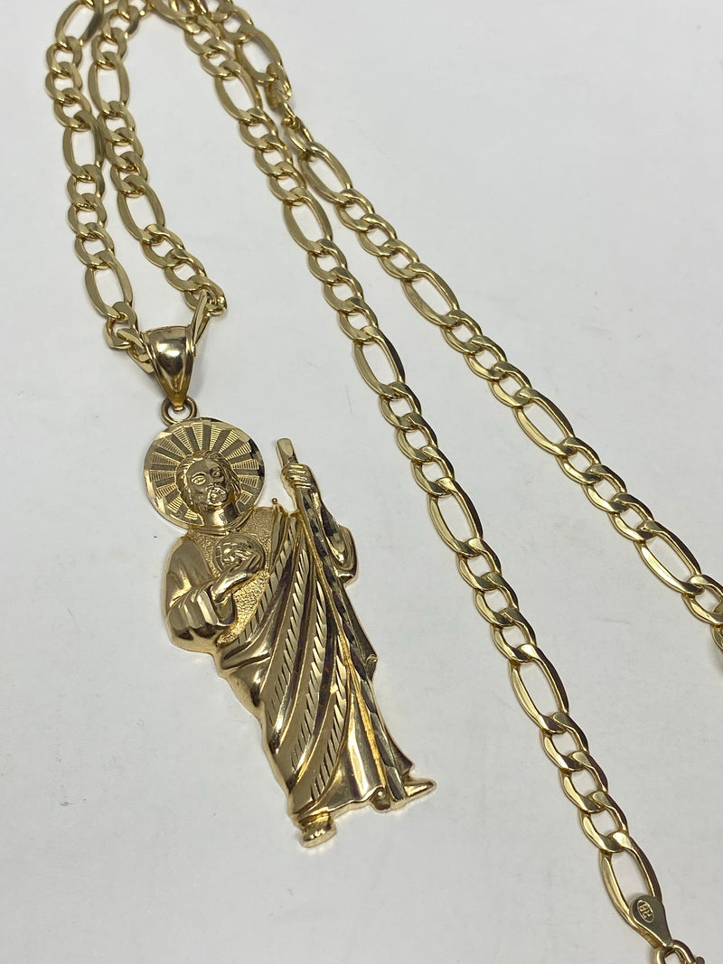 Big san Judas 14k real gold!  ( pendant or chain set )