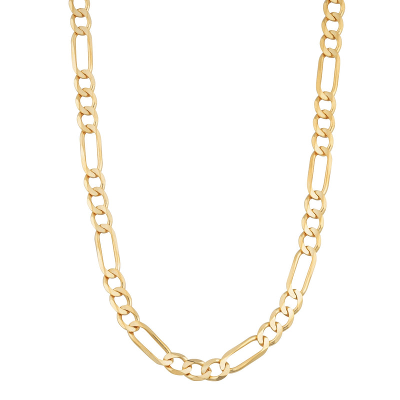 14k real gold figaro chain 22 inch