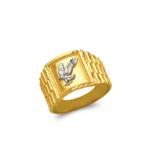Eagle ring , 14k real gold ring ( custom made )