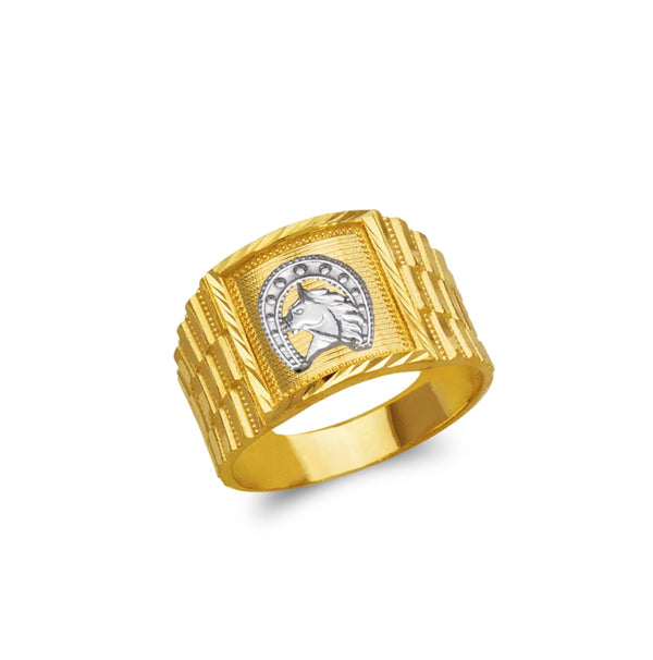Horse ring , 14k real gold ring ( custom made )