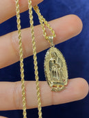 14k real gold Virgin Mary pendant or chain set! Women's ( 14k real gold ! )