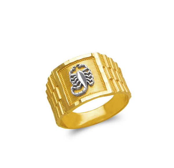 Scorpion ring , 14k real gold ring ( custom made )