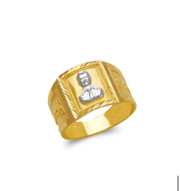 Malverde ring , 14k real gold ring ( custom made )