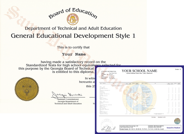 Replacement GED Diplomas and Score Sheets from Same Day Diplomas