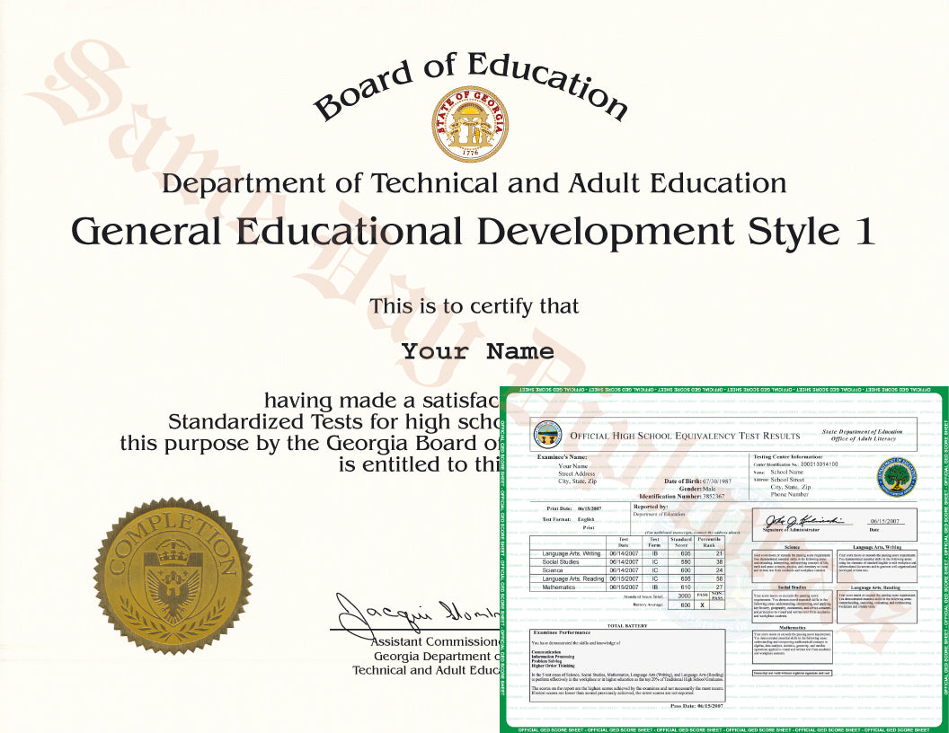 GED Diploma and Transcripts