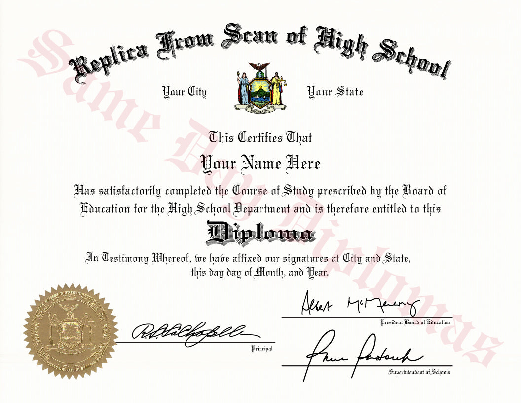 High School Match Diploma ( from your example )