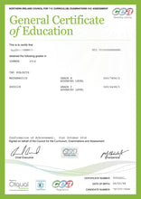 Certificate -  GCE General Certificate of Secondary Education