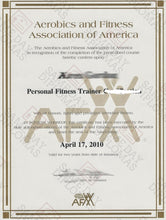 Certificate Personal Trainer