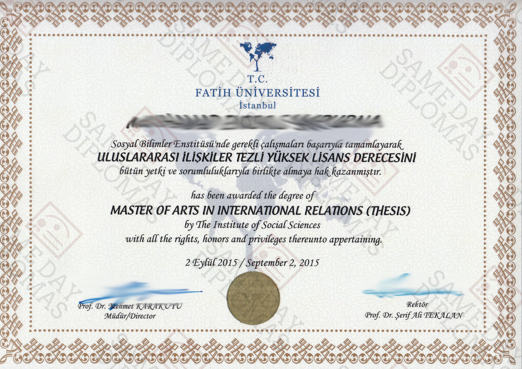 College and University Match Diploma, Degree & Stock Transcripts, Turkey