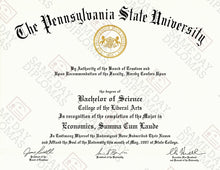 PhD Doctor of Philosophy Degree Diploma & Transcripts