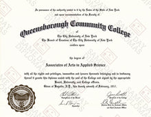 Master Degree Diploma & Transcripts
