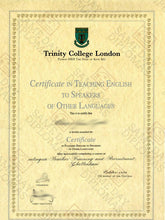 Certificate - TESOL Teaching English To Speakers of Other Languages