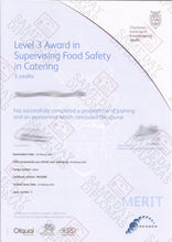 Certificate -  CIEH, Chartered Instiute of Environmental Health