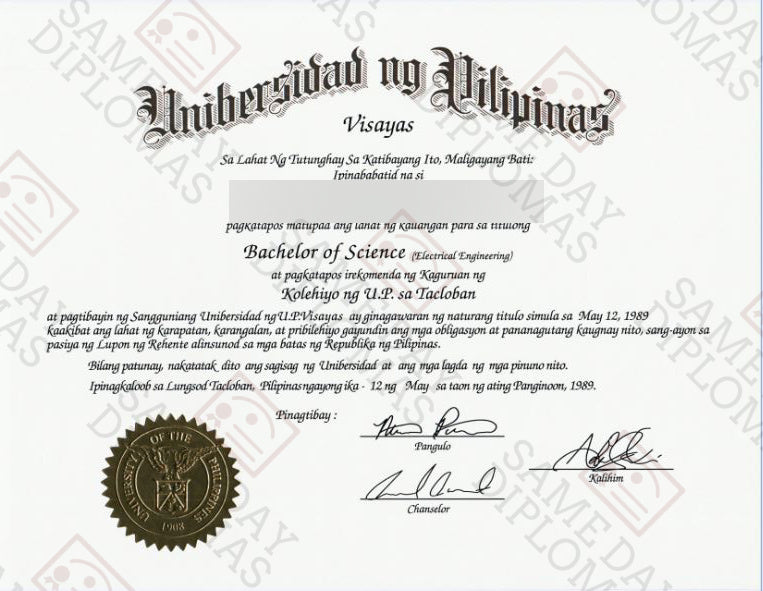 College and University Match Diploma From Philippines