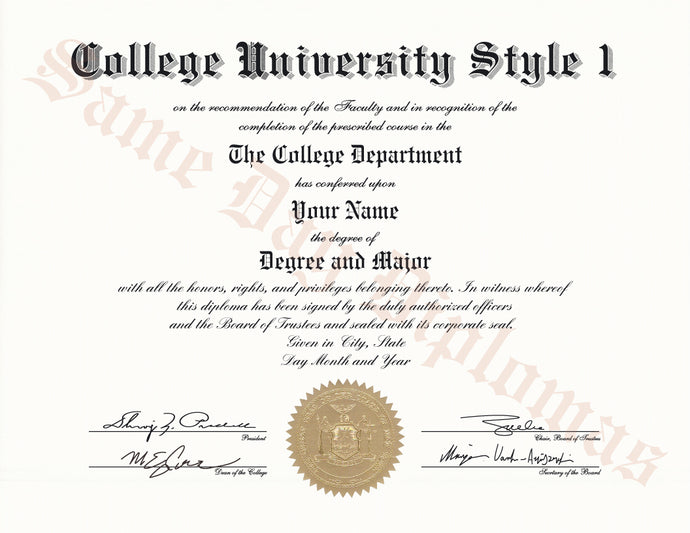 College and University Diplomas from the USA