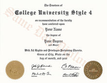 College and University Diploma Degree, USA Stock Design
