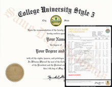 College University Diploma and Transcripts USA