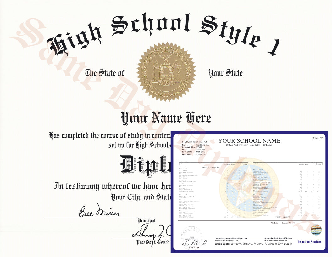 buy high school diploma and transcripts