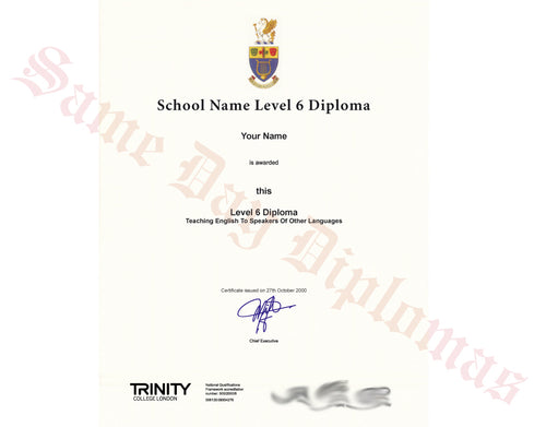 Certificate Level 6 Diploma