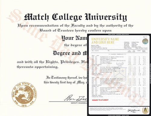 College University Match Diploma and Stock Transcripts Australia