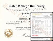 Buy College University Match Diploma and Transcripts