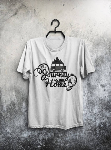Journey My Home T-shirt Men Tshirt Typography