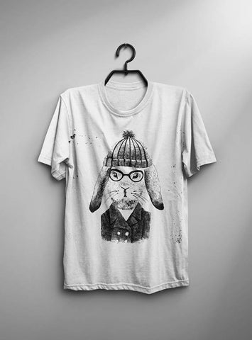 Hare Hipster T-shirt Men Tshirt Male Fashion Shirt
