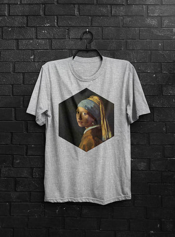 Girl With A Pearl Earring T-shirt Men Tshirt Male