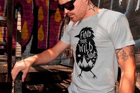 Find Your Wild Side T-shirt Men Tshirt Male