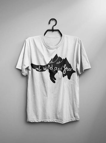 Be Wild & Free T-shirt Men Tshirt Male Fashion
