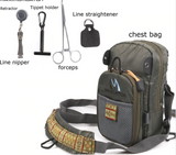 FanBellFly Fishing Chest Pack Lightweight Chest Bag,Fishing Tackle Bag Crossbody Messenger Sling Bags