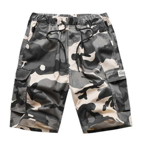Men Summer Camouflage Cotton Pocket Safari Style Cargo Short