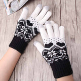 Screen Lovers Wool-Knit Gloves For Women