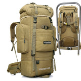 OUTDOOR LOCAL LION Tactical Backpack Men Climbing Hiking Backpacks Bag  Waterproof Rucksack Molle 85L HT431