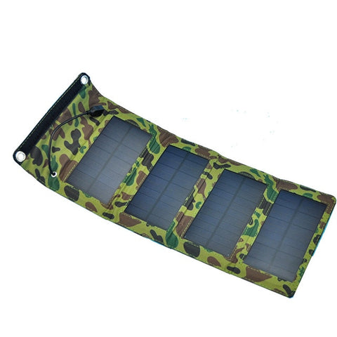5V 7W Portable Solar Panel Mobile Phone Charger Kit Solar Camping Mobile Cell Phone MP4 Camera USB Charger