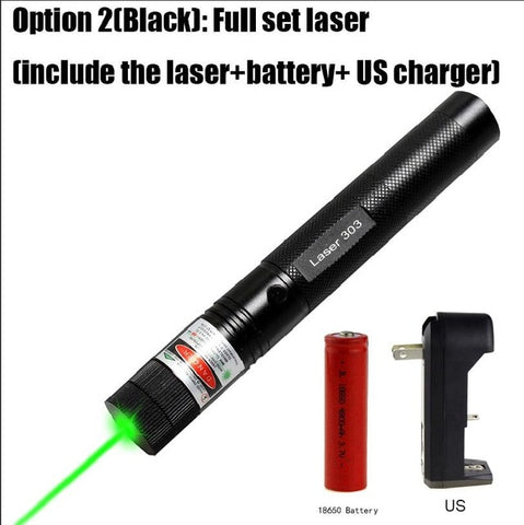 5mW Military 532nm Green Laser 303 Powerful Lazer Pointer verde Pen Sky star Burning Beam Burn Match For 18650 Battery charger