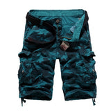 US Size 2019 New Camouflage Loose Cargo Shorts Men Cool Summer Military Camo Short Pants Homme Cargo Shorts