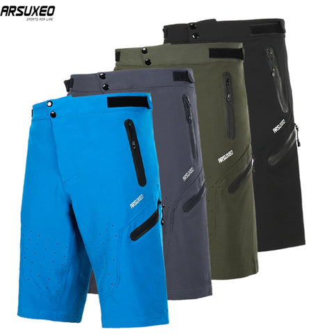 ARSUXEO Men's Outdoor Sports Cycling Shorts Downhill MTB Shorts Mountain Bike Bicycle Shorts Breathable Water Resistant 1703A