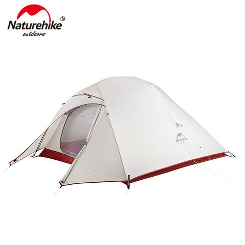 Naturehike Cloud Up Series 20D Nylon Ultralight Camping Tent Waterproof Wind-proof HikingTent For 3 Person NH18T030-T