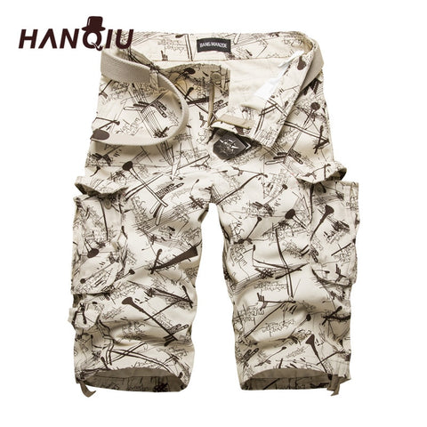 2019 Summer Cotton Mens Cargo Shorts Fashion Camouflage Male Shorts Multi-Pocket Casual Camo Outdoors Tolling Home Short Pants