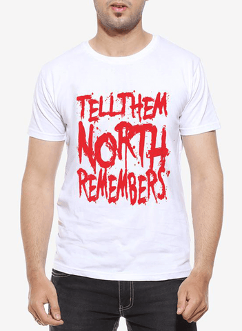 North Remembers GOT Half Sleeves T-shirt