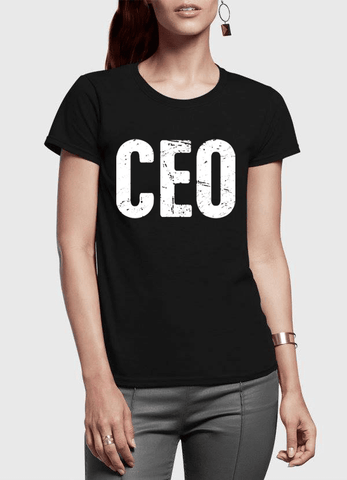 CEO Half Sleeves Women T-shirt