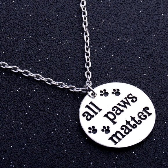 All Paws Matter Pet Lovers Necklace