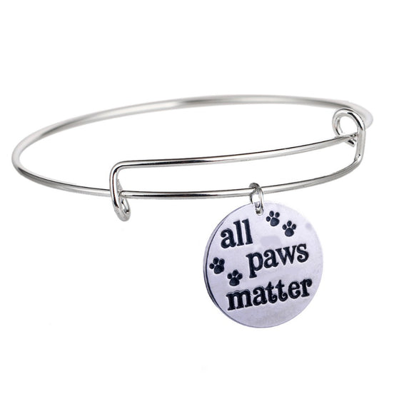 All Paws Matter Pet Lover Bracelet