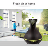 Smart Wooden Ultrasonic Air Humidifier with Essential Oil Diffuser