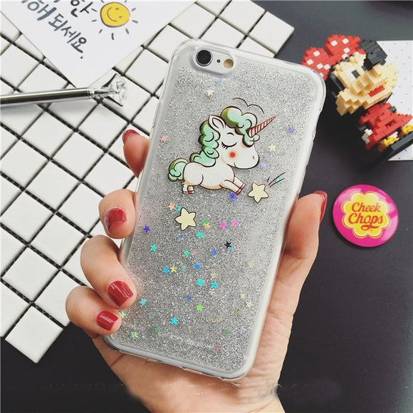Slim Glitter Unicorn iPhone Case