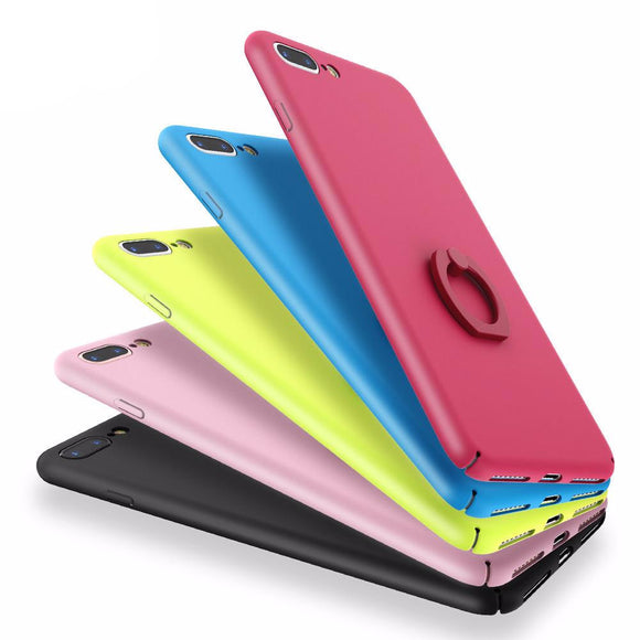 Candy Color Hard Phone Case with Ring