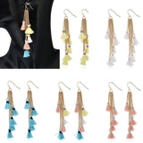 Long Tassle Drop Earrings
