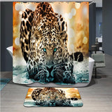 3D Animal Waterproof Shower Curtain